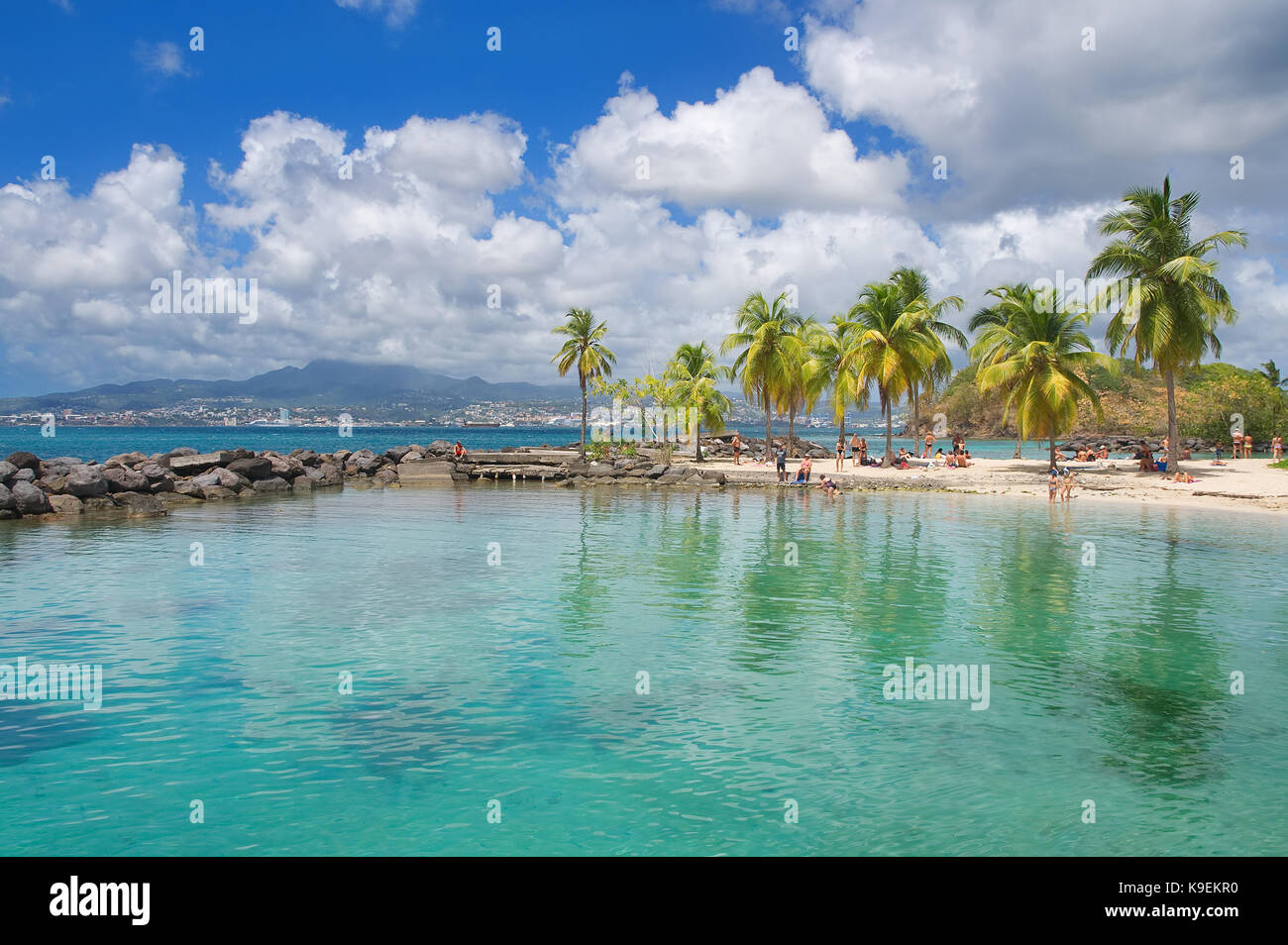 Anse Mitan - Fort-de-France - Martinique - Tropical island of Caribbean sea - Stock Image