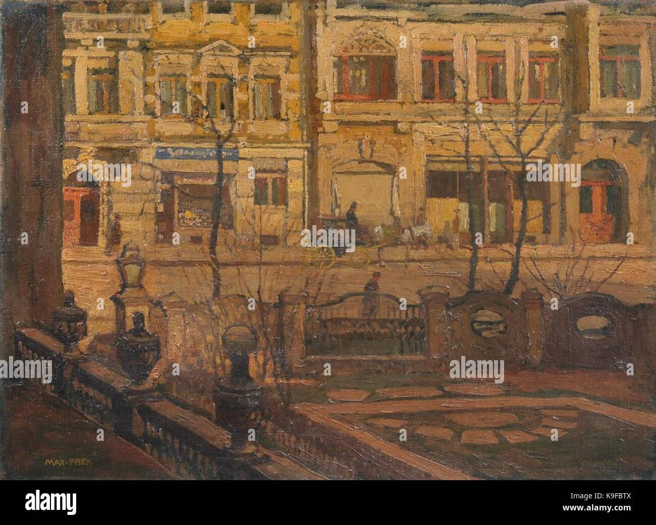 Max Frey Blick aus dem Fenster der Kunstgewerbeschule in Dresden, 1914 Stock Photo
