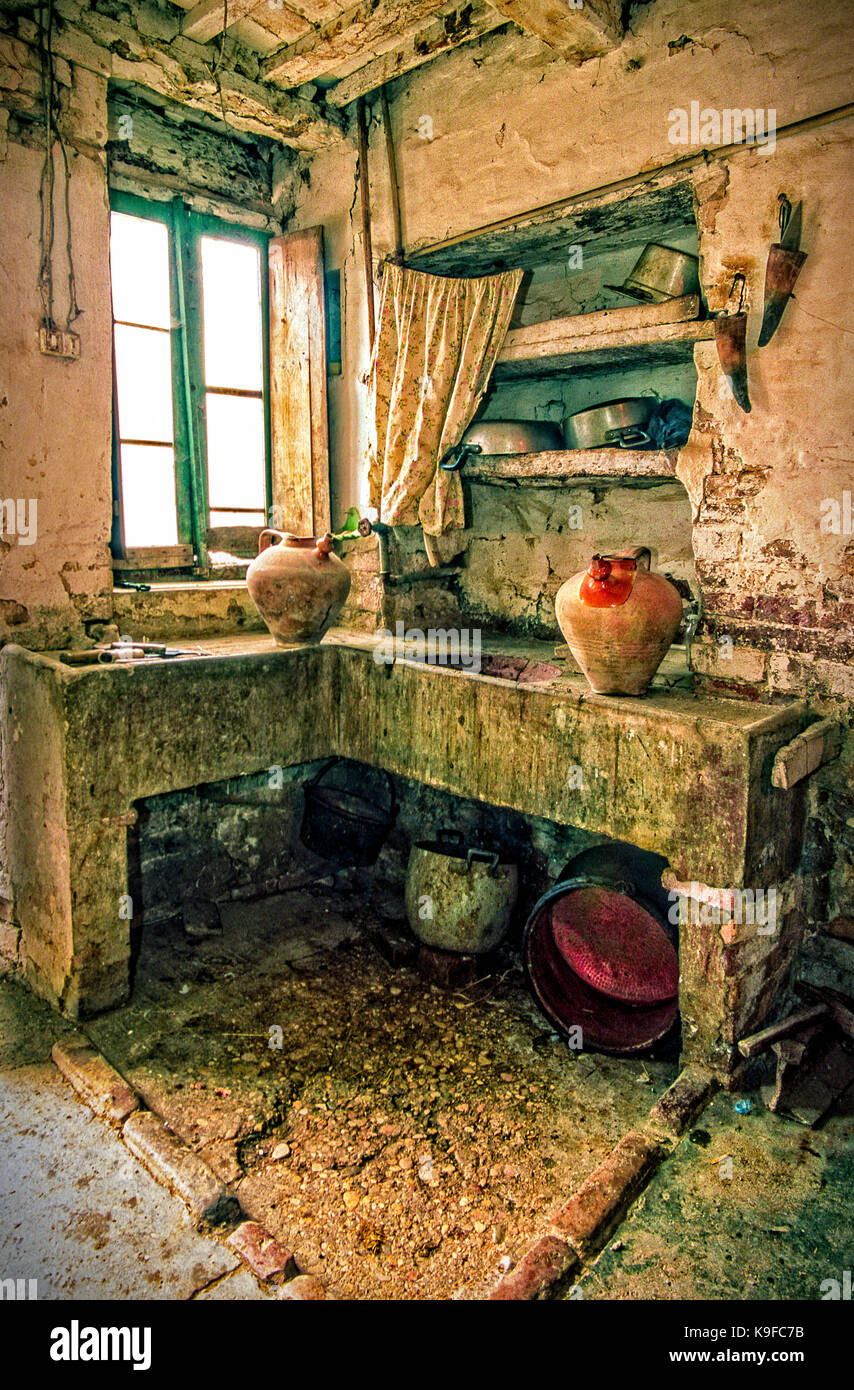Italy Marche  Valle Dell'Aso  ancient colonic house - Stock Image