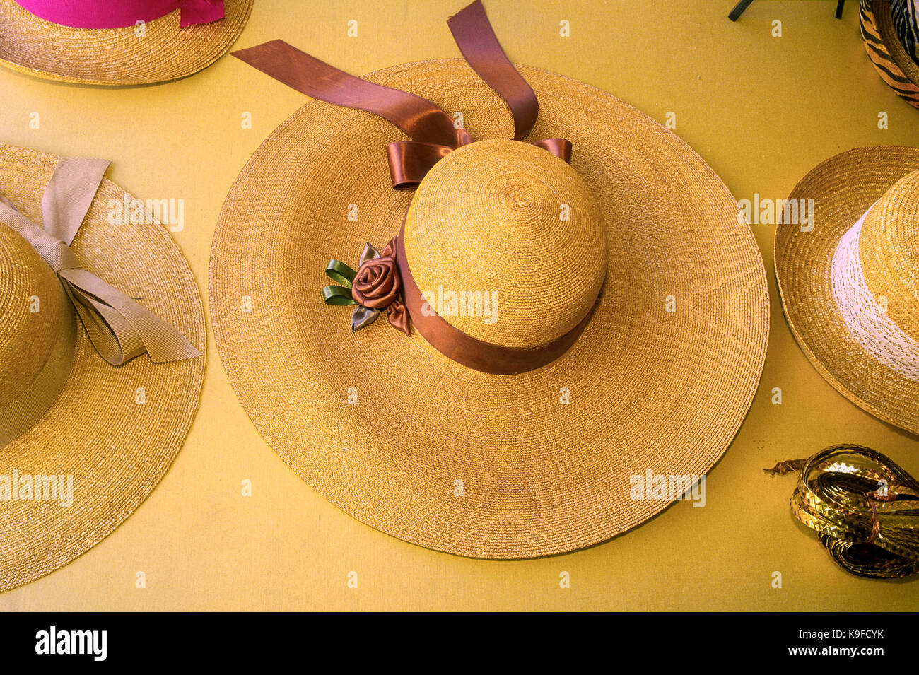 Italy Marche Montappone hats - Stock Image