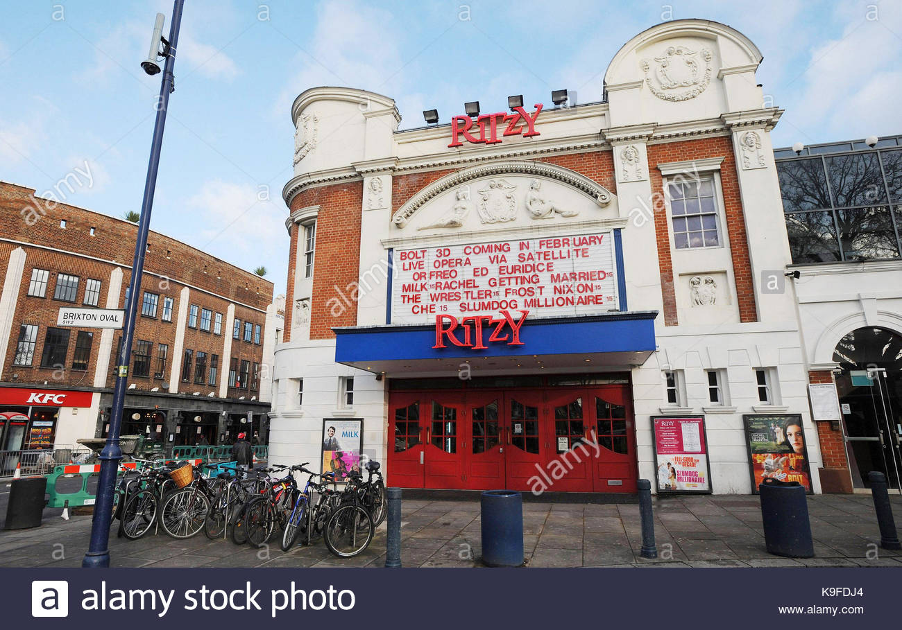 Embargoed to 0001 Saturday September 23 File photo dated 26/01/09 of The Ritzy cinema in Brixton, south London. - Stock Image
