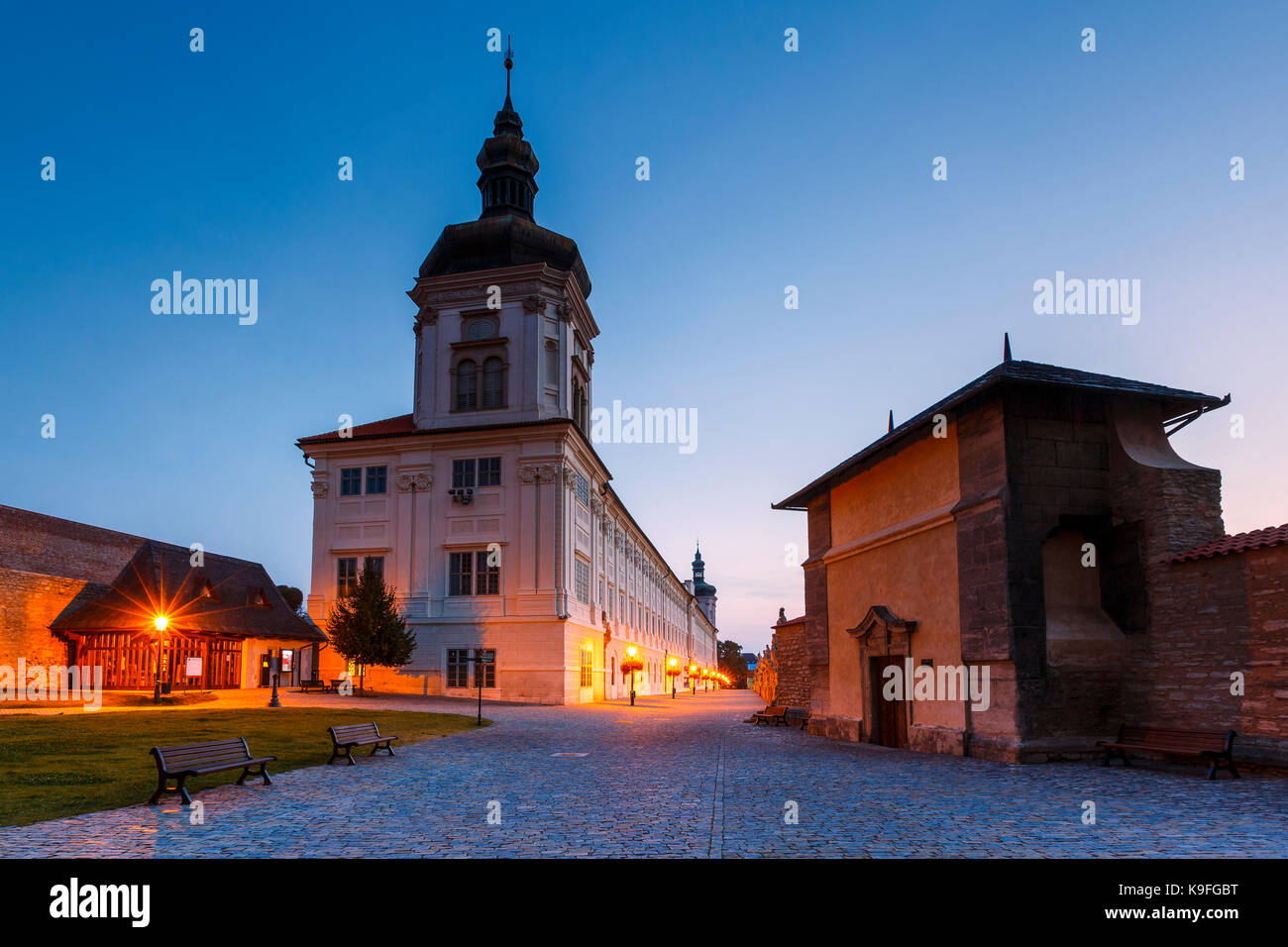 Jesuit collage in the old town of Kutna Hora. - Stock Image