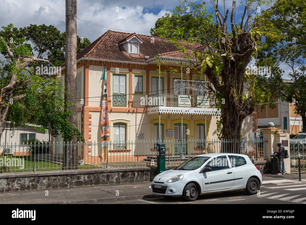 Fort-de-France, Martinique.  Museum of History and Ethnography. - Stock Image