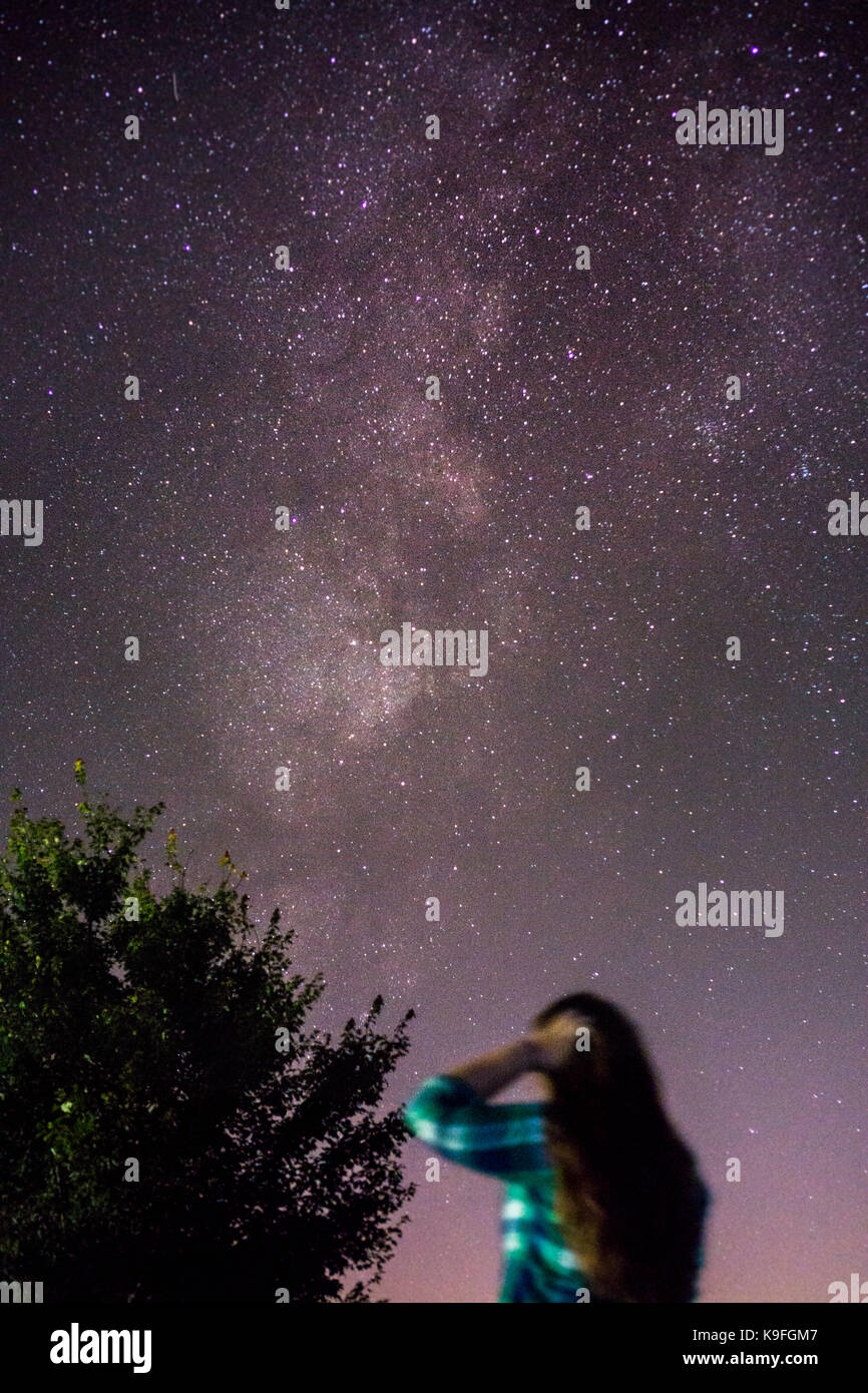 Astrophotography with Friends - Stock Image