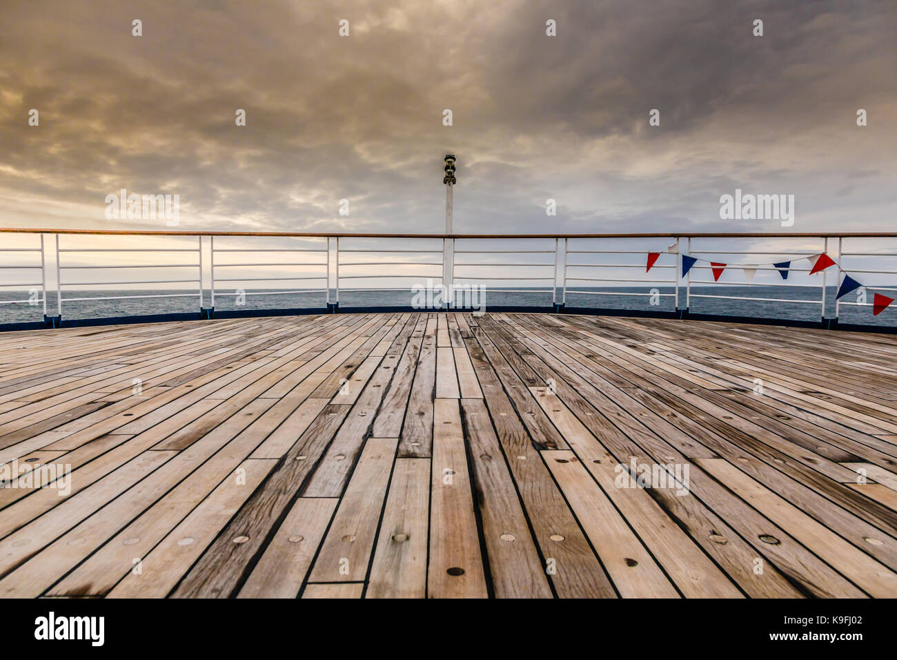 Aft deck on the MV Marco Polo - Stock Image