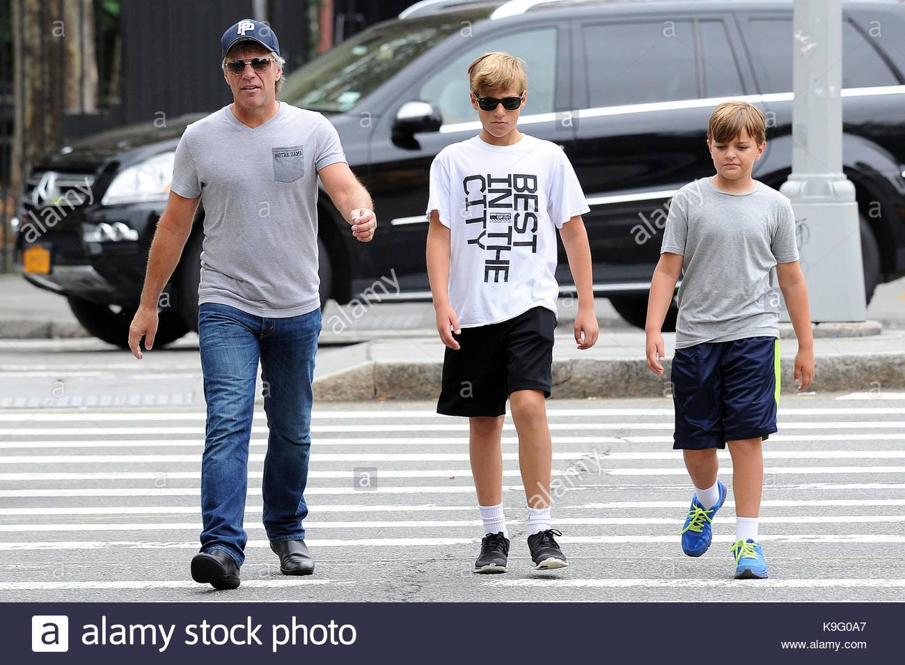 Jon Bon Jovi, Jacob Bongiovi and Romeo Bongiovi. Jon Bon ...