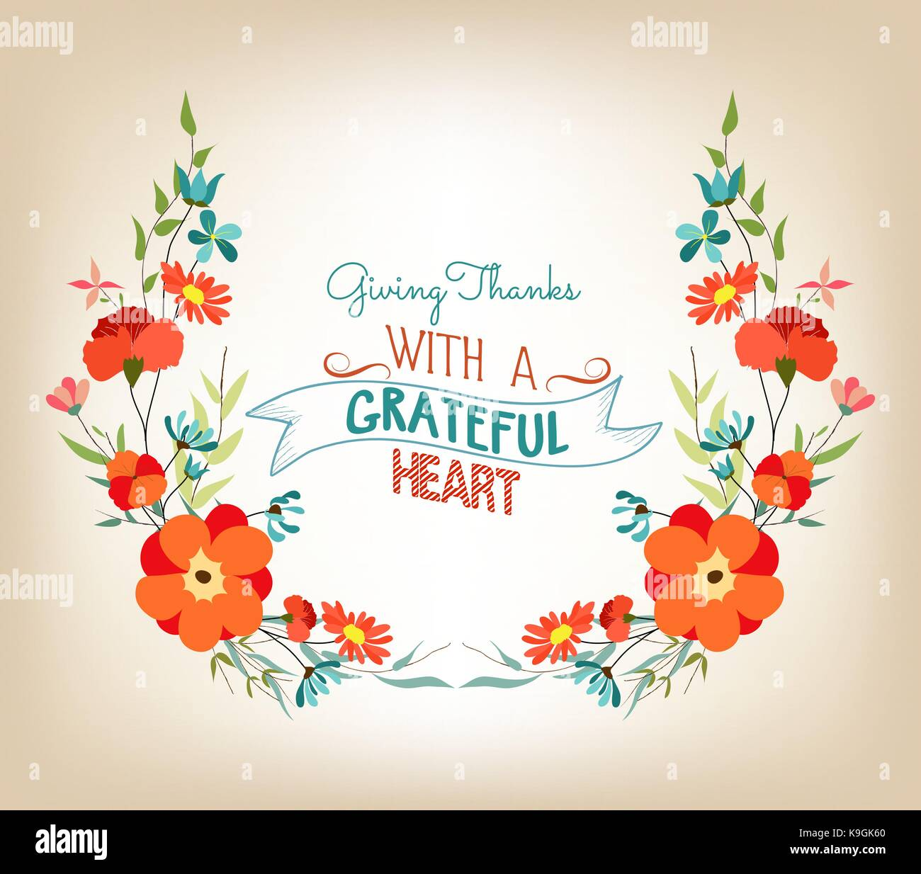 Floral background thanksgiving greeting card with decorative flowers floral background thanksgiving greeting card with decorative flowers m4hsunfo