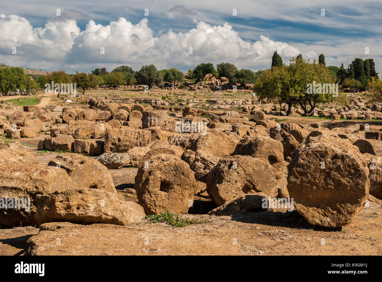 Ruins in the Valley of the Temples of Agrigento - Stock Image