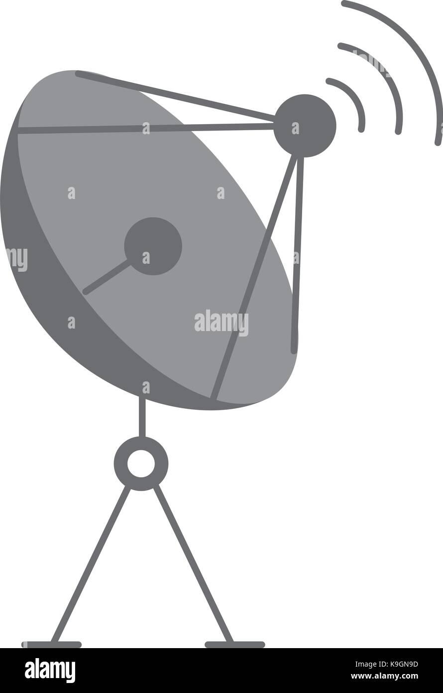 radar dish antenna for broadcast communication vector illustration - Stock Image