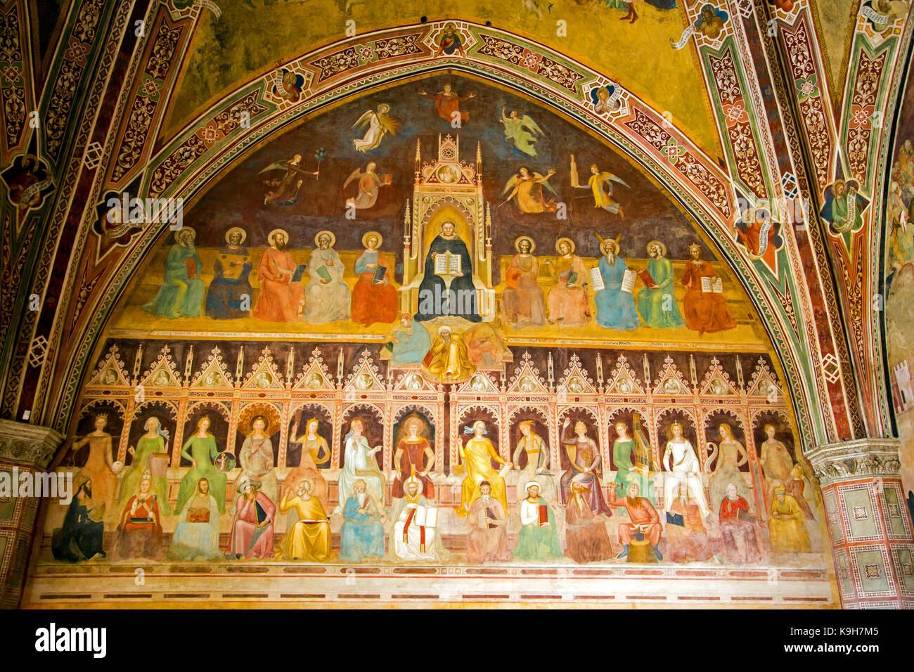 Triumph of the Catholic Doctrine by Andrea di Buonaiuto in the Spanish Chapel section of Santa Maria Novella church Stock Photo