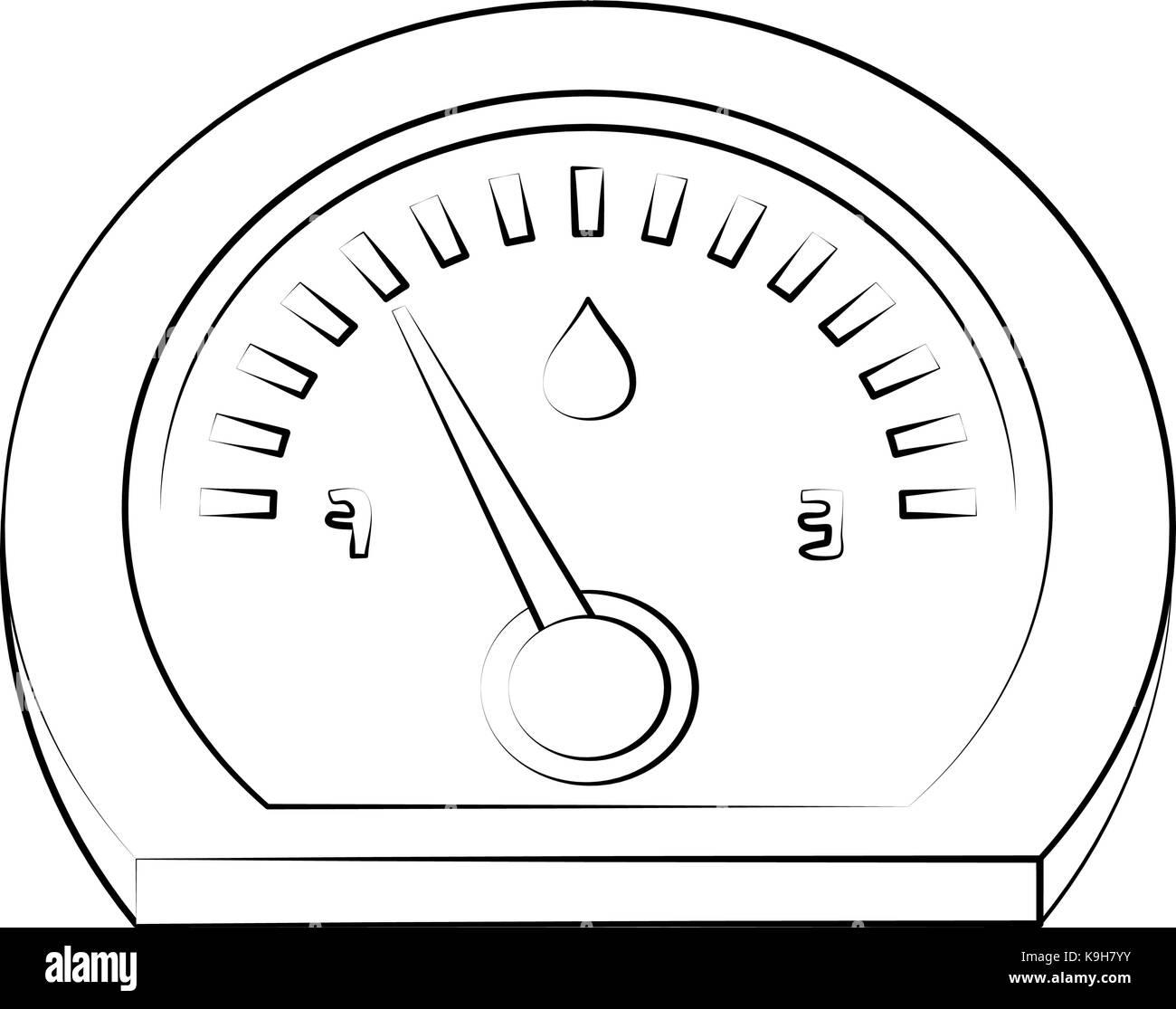 Car fuel meter - Stock Image