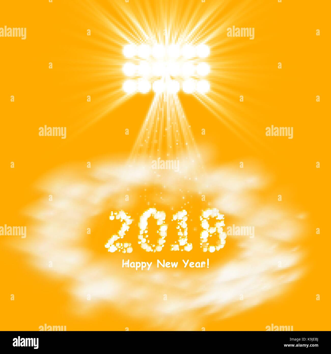 Christmas party poster happy 2018 new year flyer greeting card christmas party poster happy 2018 new year flyer greeting card invitation menu design template vector stopboris Choice Image