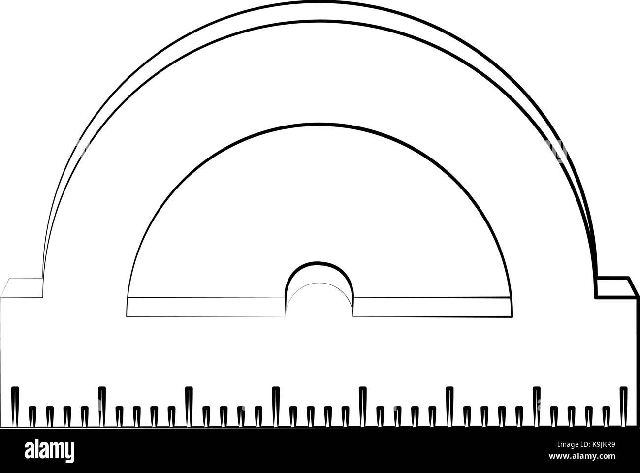 angle meter ruler - Stock Image