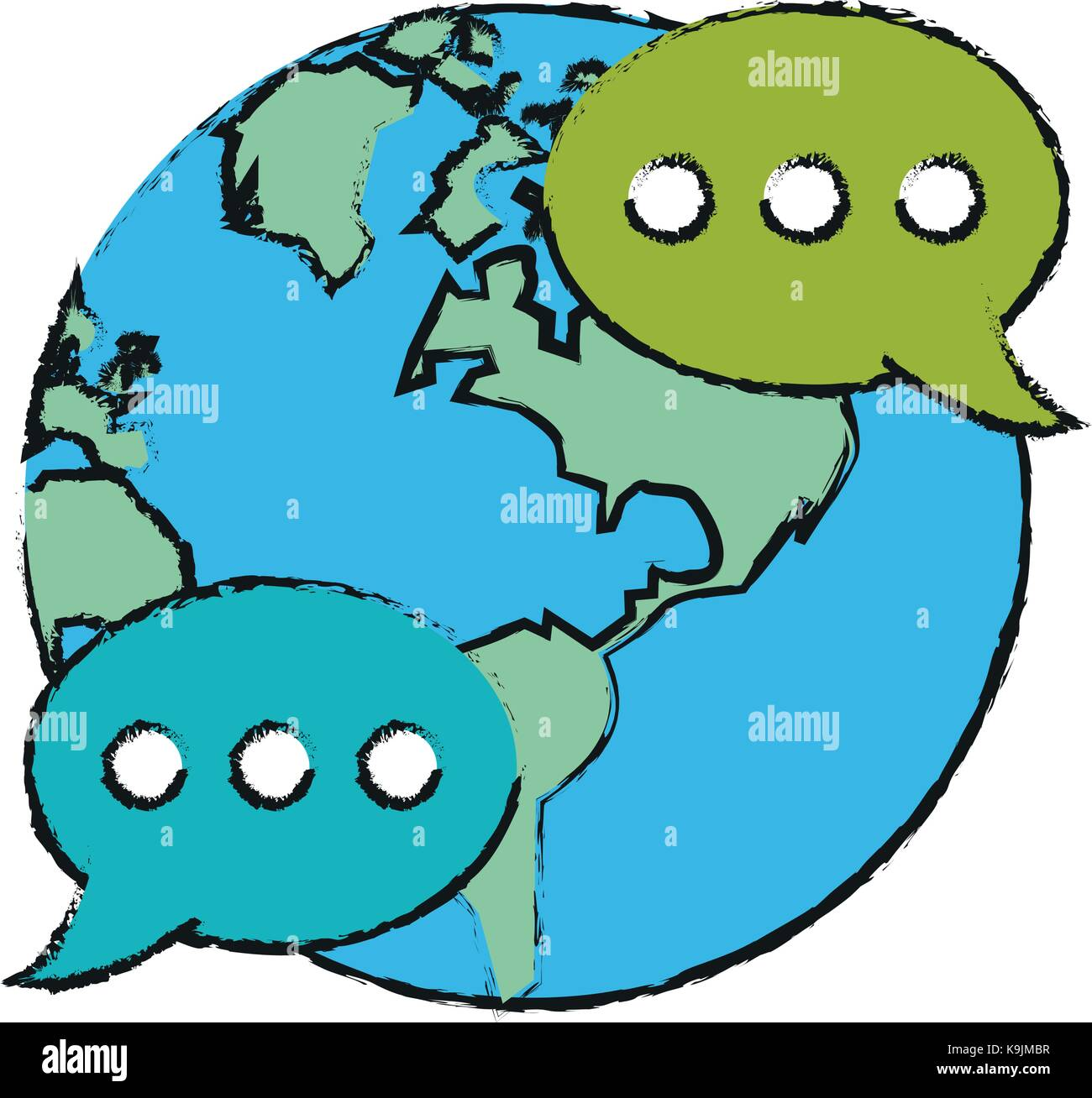 Global chat symbol - Stock Vector