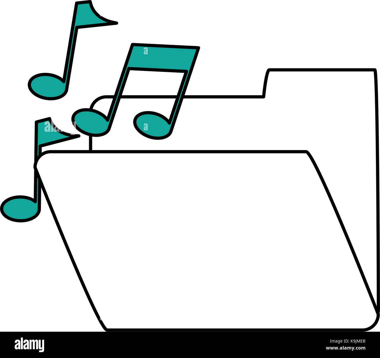 Music playlist folder - Stock Image