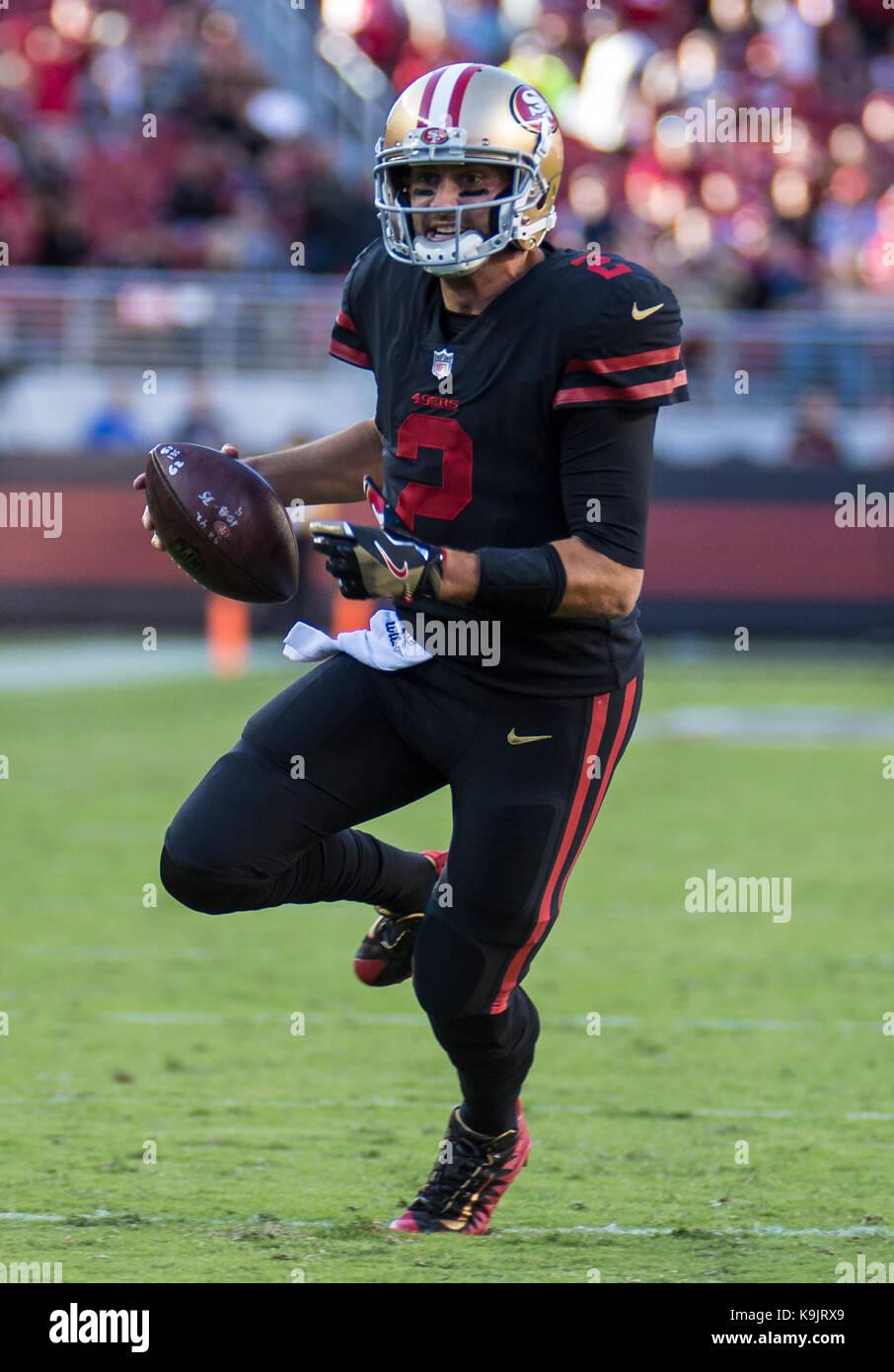 Santa Clara Usaa Ca 21st Sep 2017 49ers Quarterback Brian Hoyer Stock Photo Alamy
