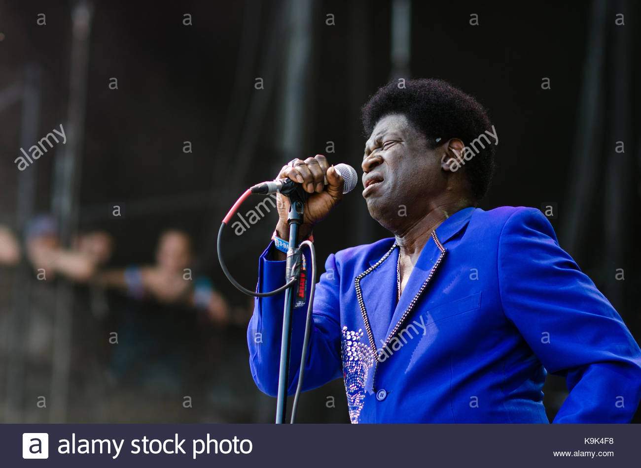 Chicago, USA. 3rd Aug, 2017. Charles Bradley performs at Lollapalooza in Chicago, IL on August 3, 2013. Credit: - Stock Image