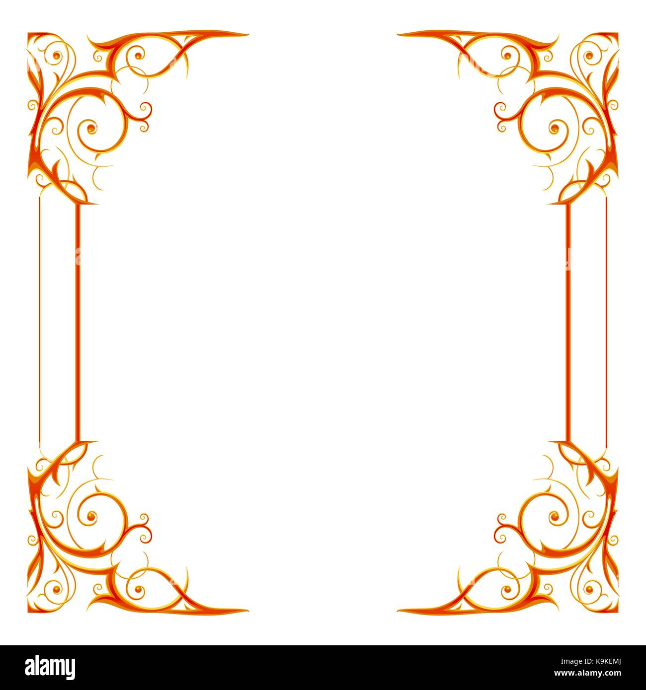 Gold holiday frame isoleted - Stock Vector