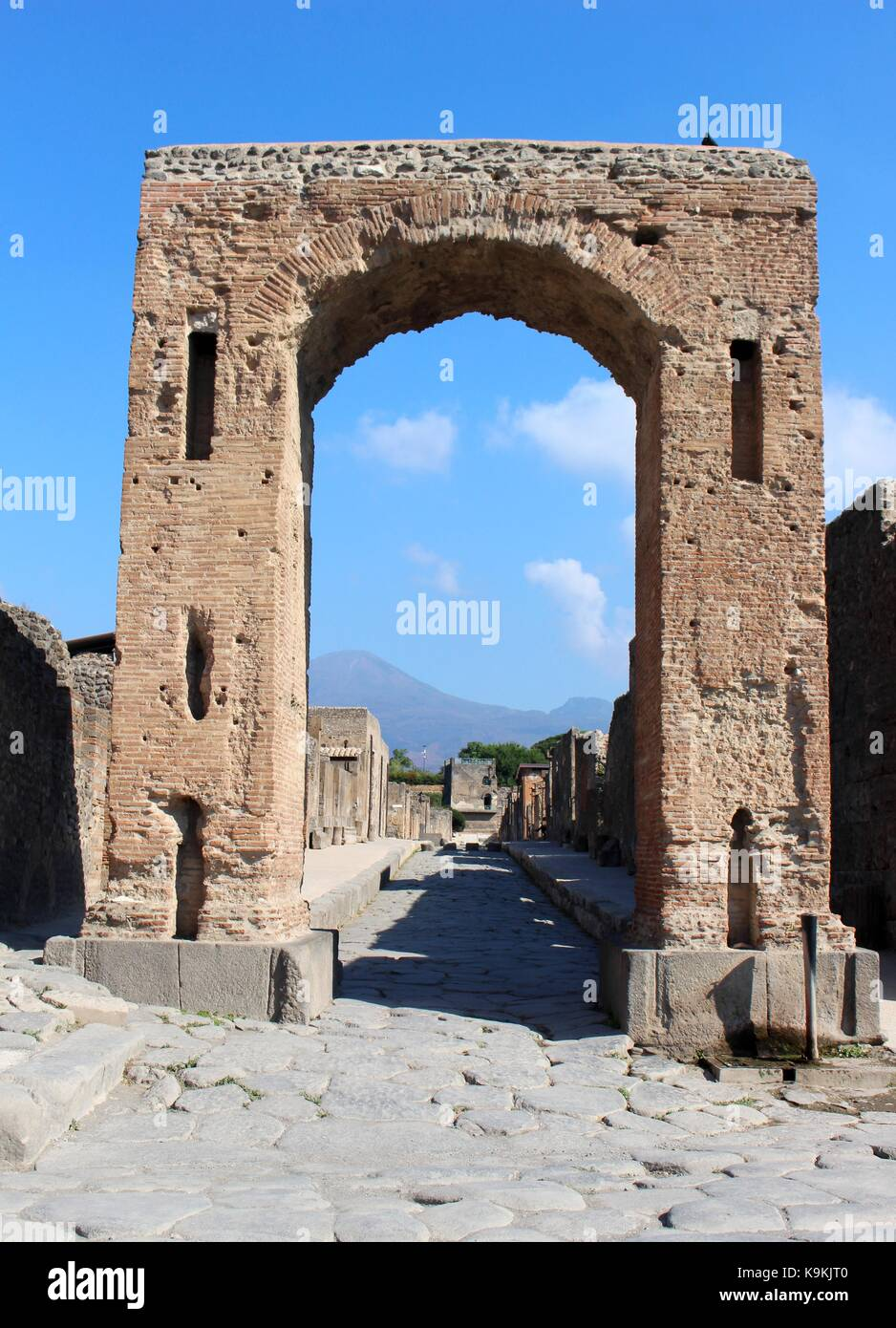 The archaeological remains of Pompeii demonstrates nature's ability to destroy and preserve. - Stock Image