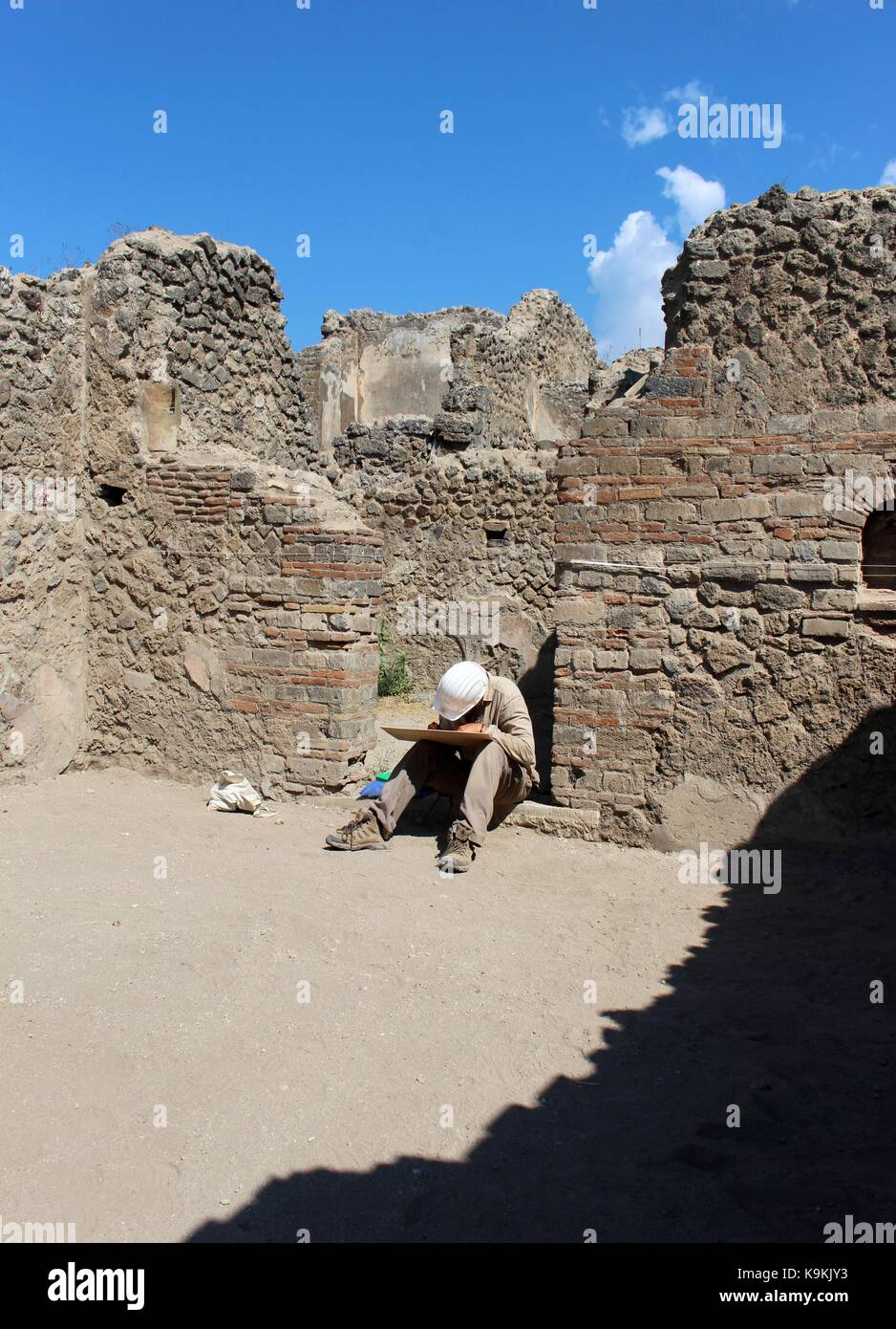 The archaeological remains of Pompeii demonstrates nature's ability to destroy and preserve. Stock Photo