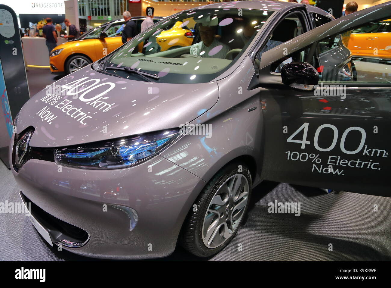 Renault displayed its range and innovations at the 2017 Frankfurt Motor Show in Germany - Stock Image