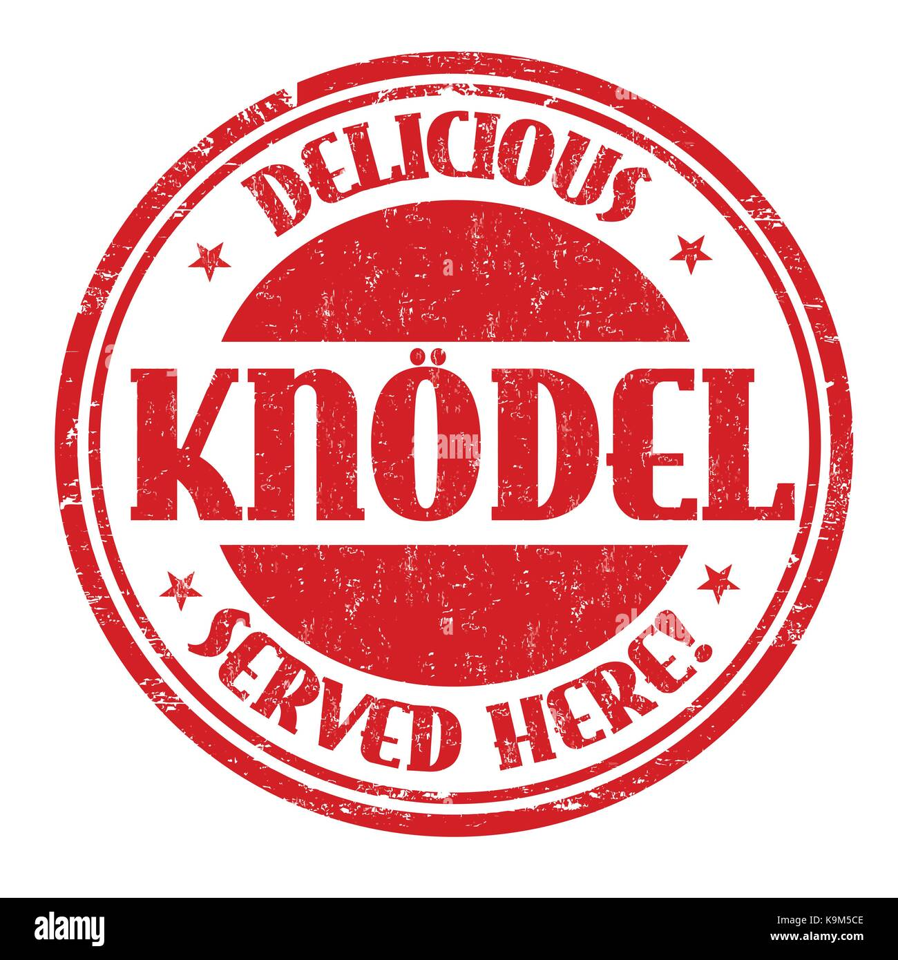 Knodel grunge rubber stamp on white, vector illustration - Stock Image