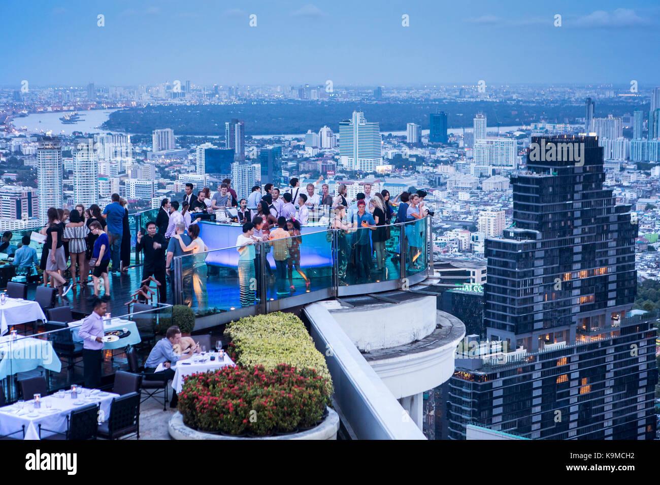 Sky Bar,Sirocco, at Lebua Hotel, Bangkok, Thailand - Stock Image