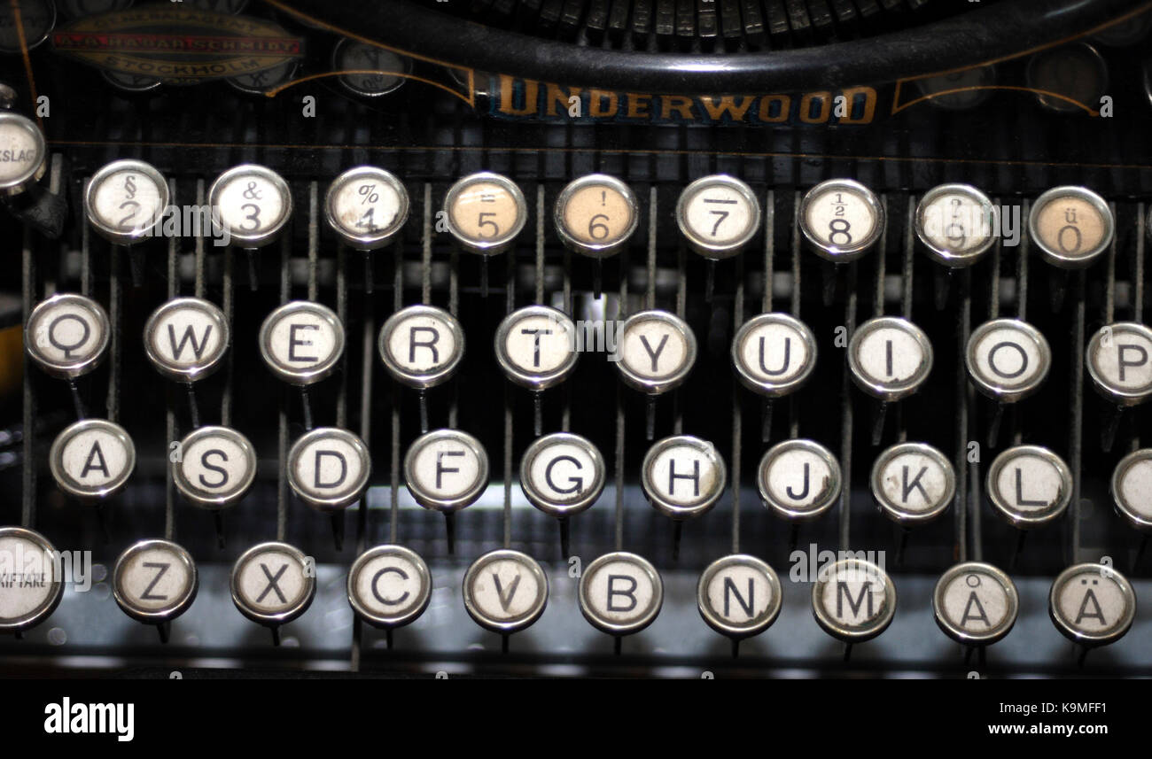 TYPEWRITER keys with letters 2011 - Stock Image