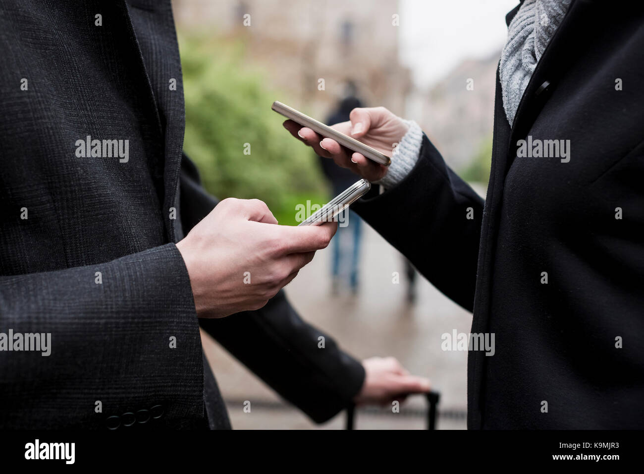 Business people meets in the city. Milan, Italy. - Stock Image