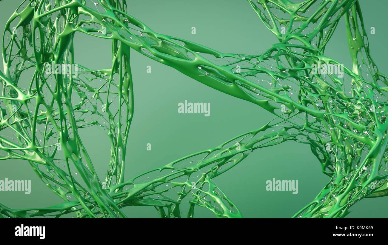 Green organic structure - Stock Image
