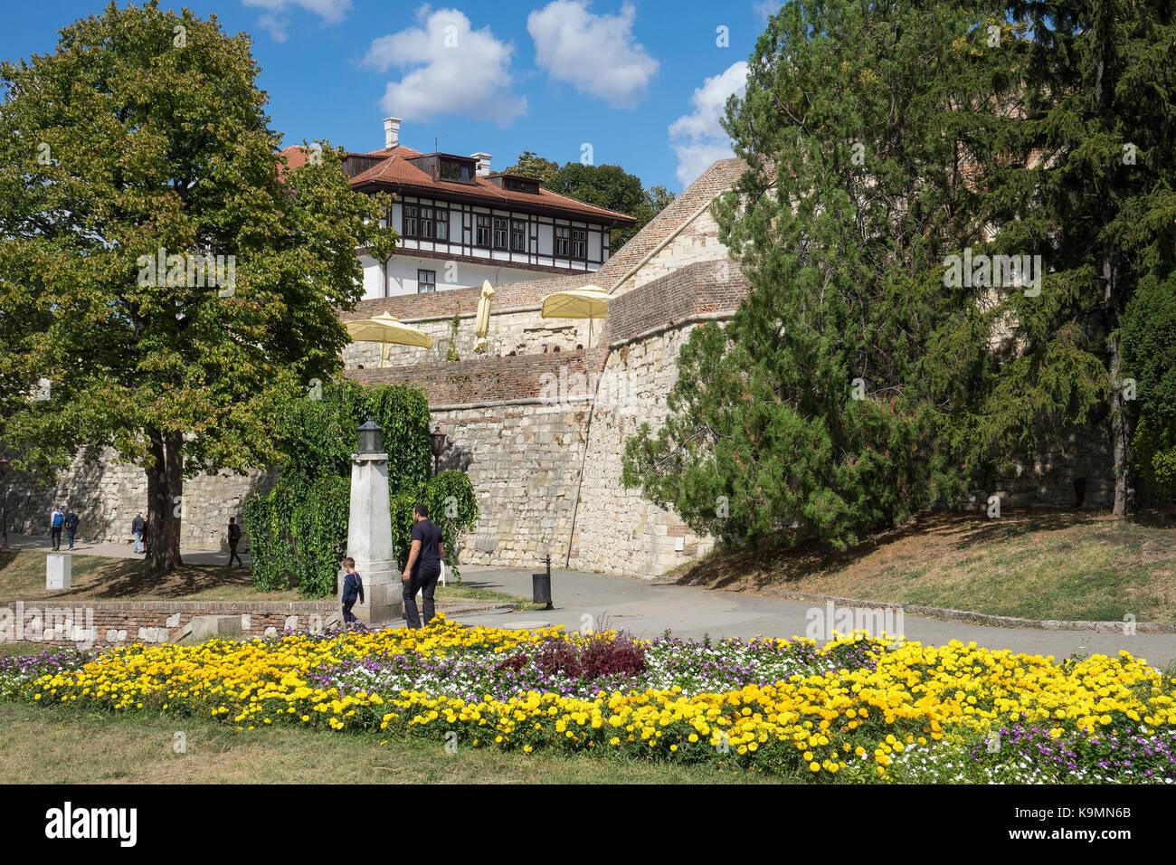Serbia, Belgrade, Kalemegdan Fortress - Stock Image