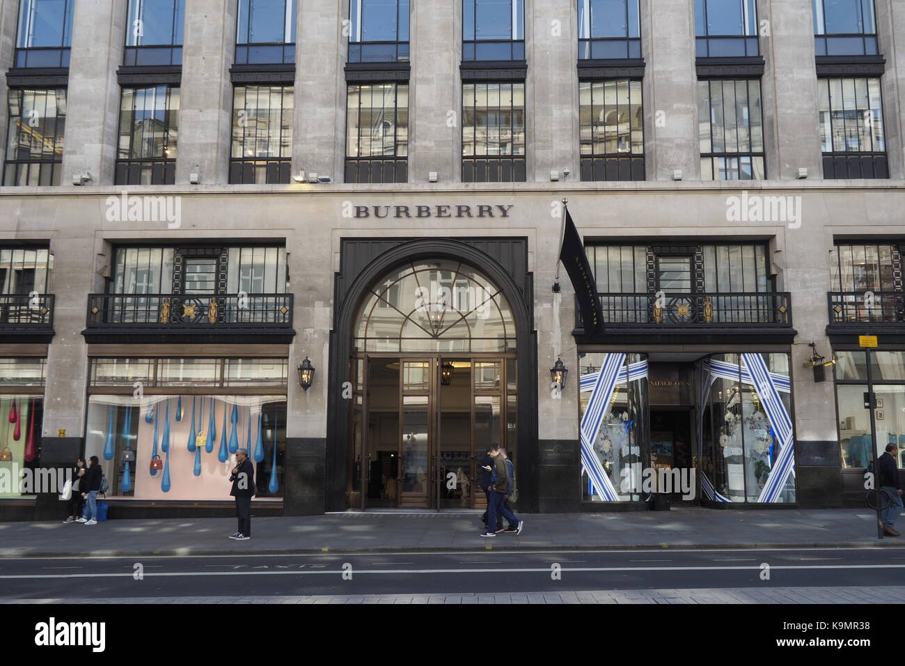 Burberry Flagship store Regent Street London - Stock Image