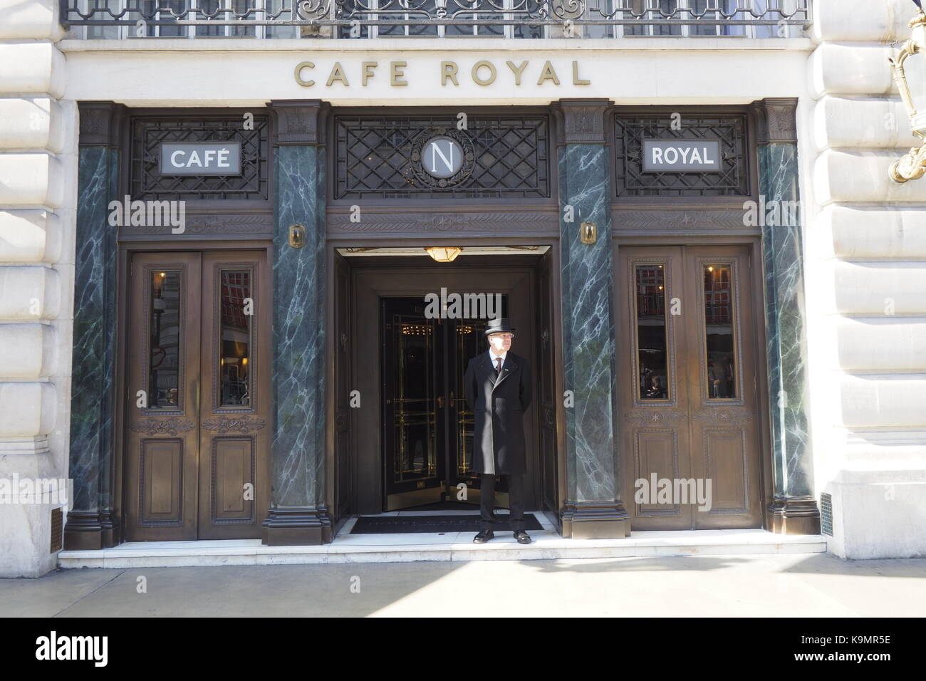 Café Royal entrance in Regent Street - Stock Image