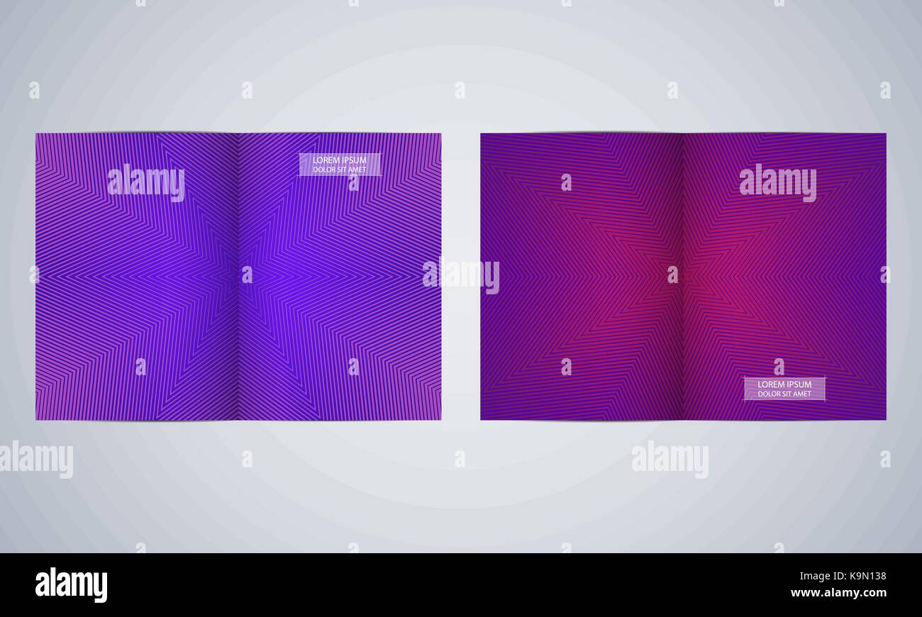 Bi Fold Brochure Template Layout Flyer Cover Annual Report Magazine In A4 Size Minimalist Geometric Abstract Background Vector Illustration