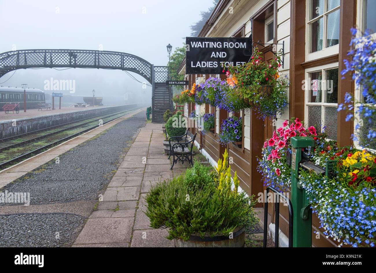 Boat of Garten station in Scotland, UK Stock Photo
