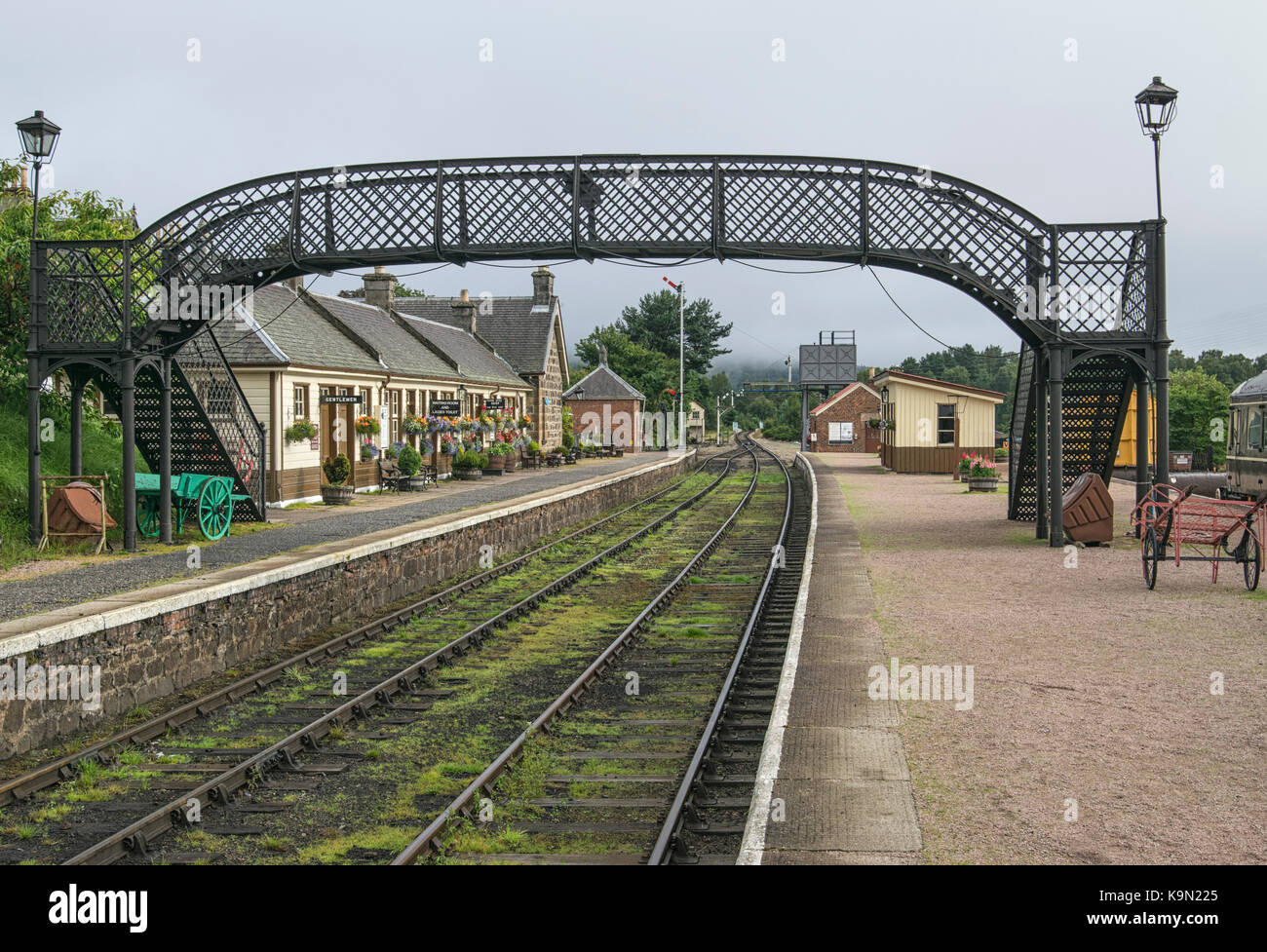Boat of Garten station in Scotland, UK Stock Photo