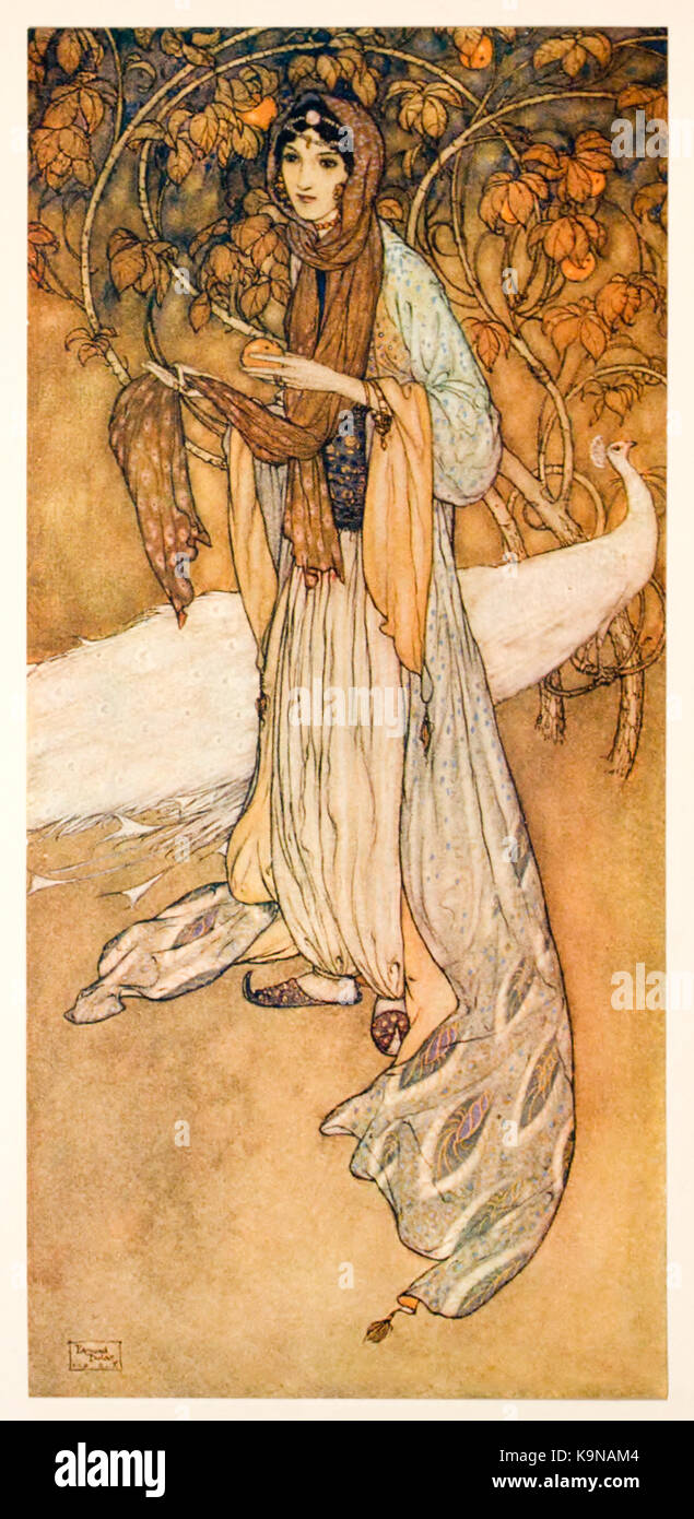 Princess Scheherazade the legendary Persian queen and the storyteller of One Thousand and One Nights. From 'Stories - Stock Image