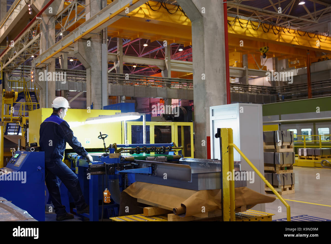 Vsefolozhsk, Leningrad oblast, Russia - June 5, 2015: Presentation of the joint enterprise Severstal-SSC-Vsevolozsk. - Stock Image