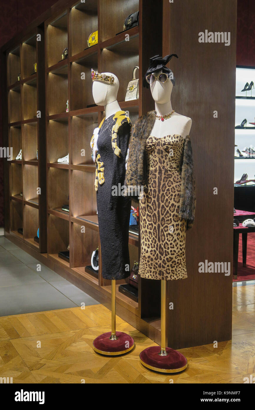Dolce & Gabbana Designer Store on Fifth Avenue, NYC, USA - Stock Image