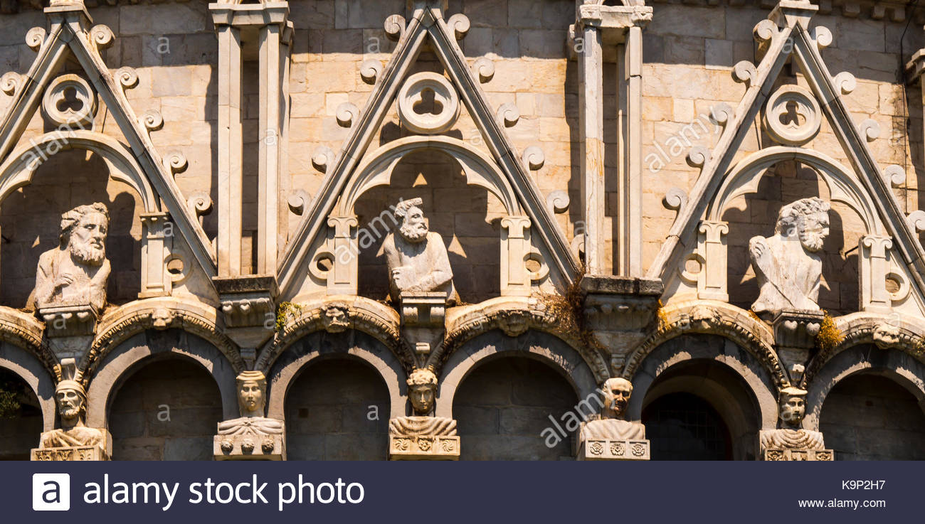 Baptistry detail, Pisa, Italy Stock Photo