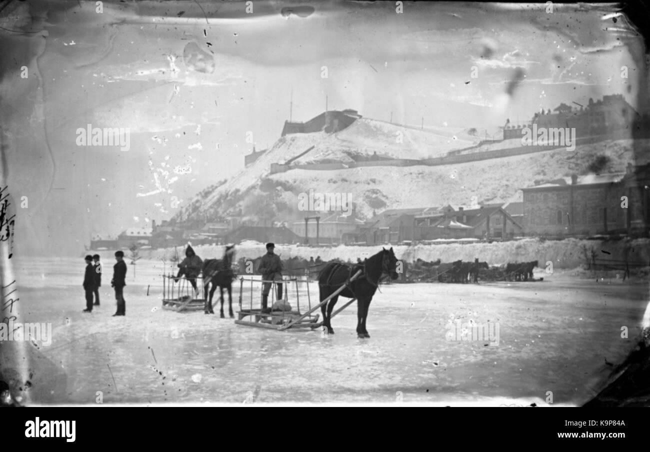 Pont de glace Quebec Levis - Stock Image