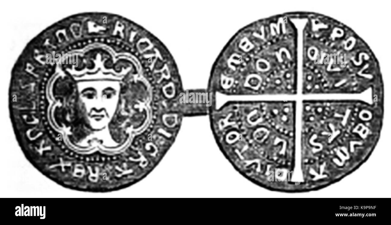 P65a Groat of Richard III - Stock Image