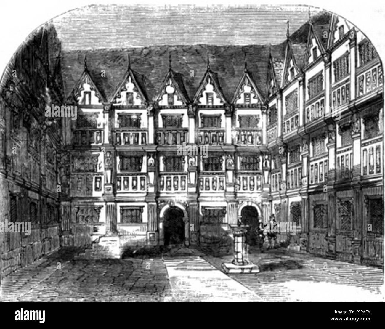 P480 House of Sir Thomas Gresham on Bishopsgate Syreet - Stock Image