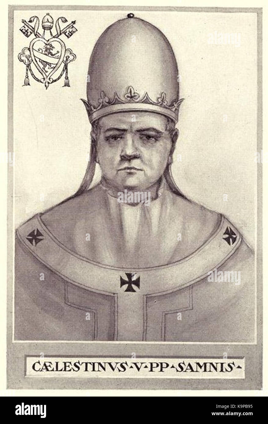 Pope Celestine V - Stock Image