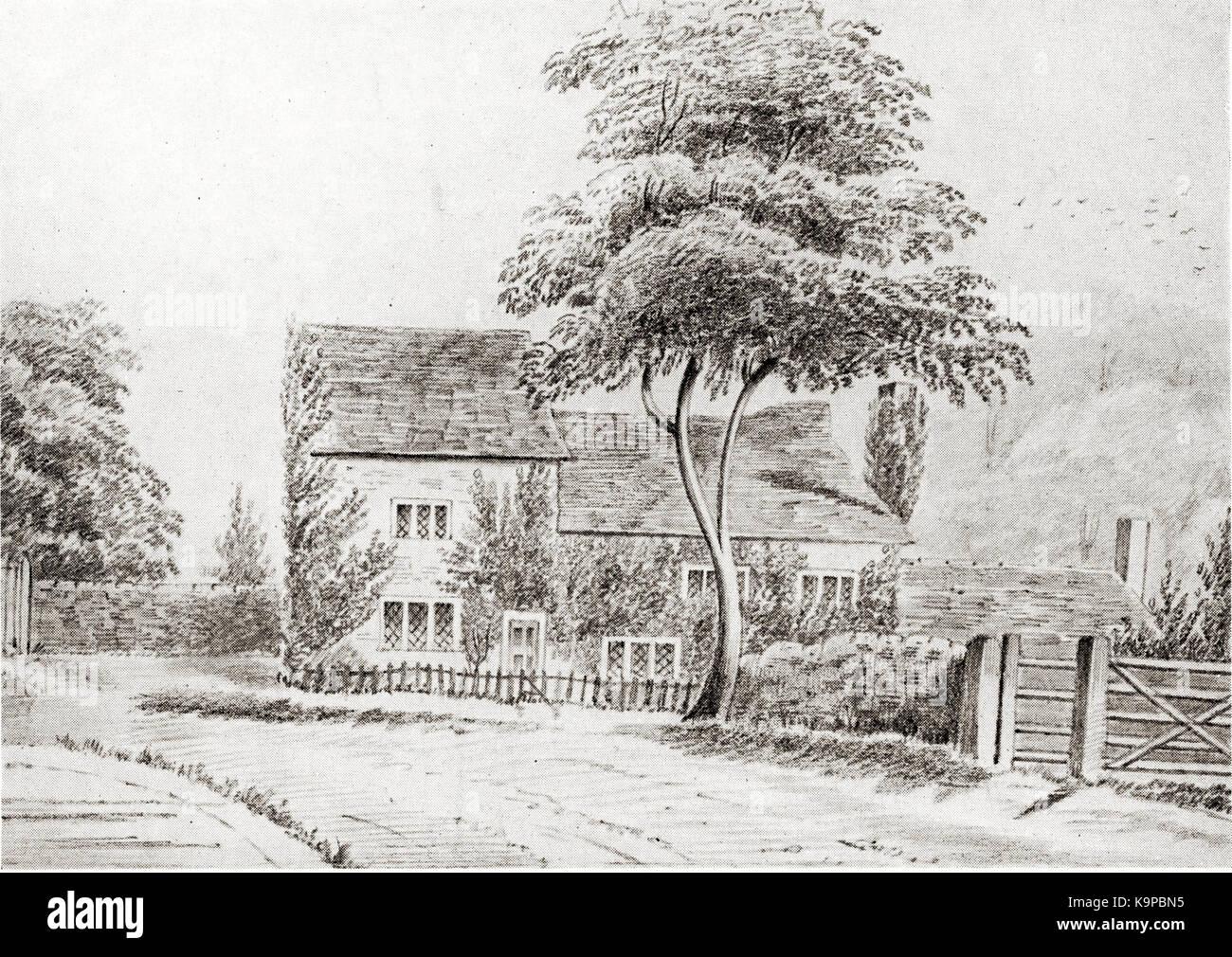 Parsonage Chapel Allerton 1858 (5) - Stock Image