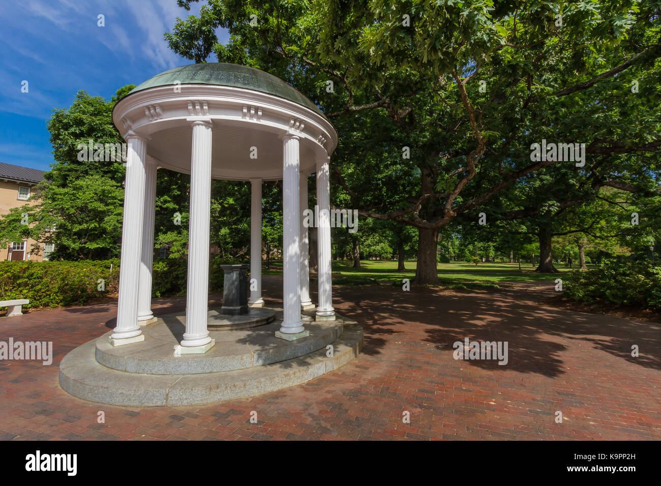 Old Well at the University of North Carolina at Chapel Hill in Chapel Hill, North Carolina.  Built in 1897. - Stock Image