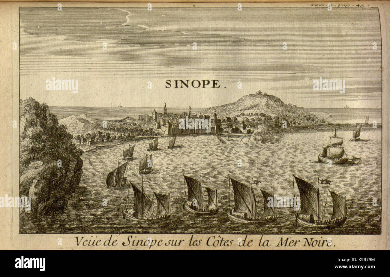 Relation d'un voyage du Levant (Plate 4) (7893876856) - Stock Image