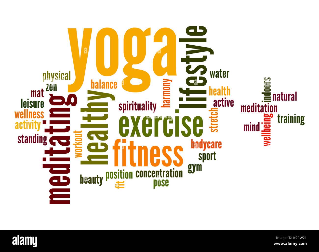 Yoga Word Cloud Stock Photo 160949769