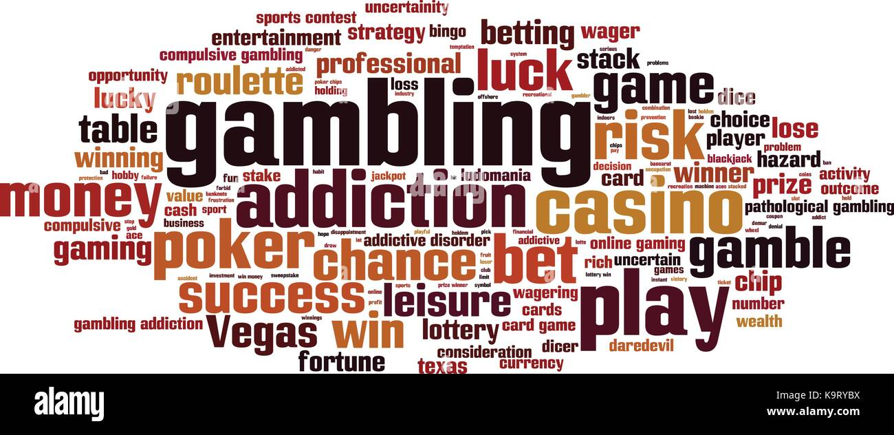 Gambling word cloud concept. Vector illustration - Stock Vector