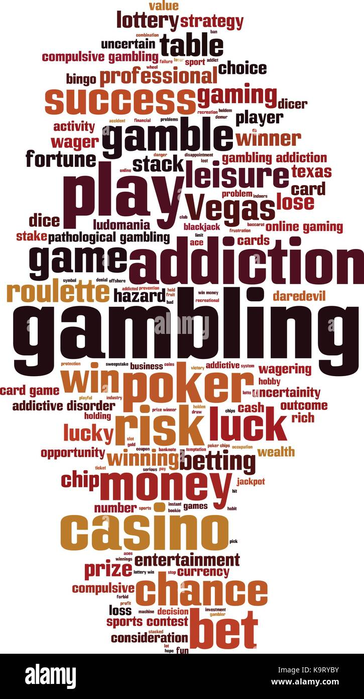 Gambling word cloud concept. Vector illustration - Stock Image